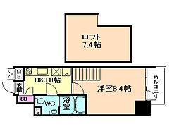 リセス大阪イースト[9階]の間取り