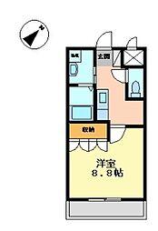 BLUE MOON[1階]の間取り
