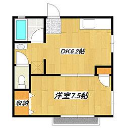 東京都江戸川区東小岩2丁目の賃貸アパートの間取り