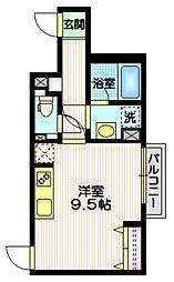 京王井の頭線 東松原駅 徒歩5分の賃貸マンション 1階ワンルームの間取り