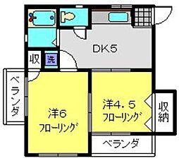 神奈川県横浜市中区山手町の賃貸マンションの間取り