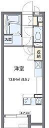 JR高崎線 北鴻巣駅 徒歩16分の賃貸アパート 1階1Kの間取り