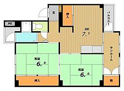 五位ノ池南ビル[3階]の間取り