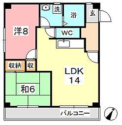 マンション曽根本 II[208号室]の間取り