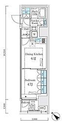 リビオメゾン大崎 8階1DKの間取り