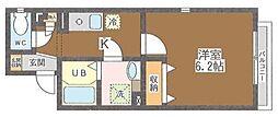 東京都江戸川区南小岩8丁目の賃貸マンションの間取り