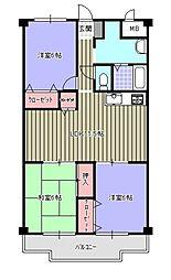 シーサイドアベニュー古賀[2階]の間取り