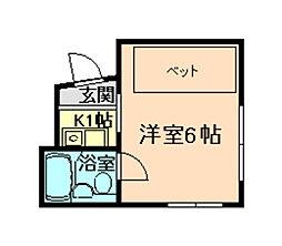 パインマンション[1階]の間取り