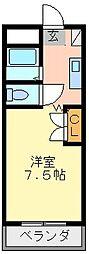 徳島県徳島市昭和町7丁目の賃貸マンションの間取り
