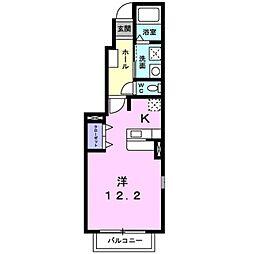 ベルメゾンB[1階]の間取り