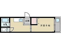 三賀マンション[4階]の間取り