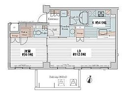カスタリア三宿[2階]の間取り