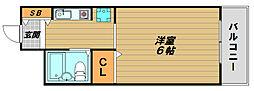 兵庫県神戸市長田区長田町8丁目の賃貸マンションの間取り