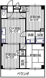シャトークレール1番館[1階]の間取り