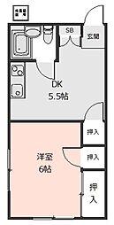岡村荘[202号室]の間取り