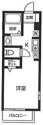 京王線 千歳烏山駅 徒歩10分の賃貸アパート 2階ワンルームの間取り