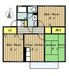エクレールB棟[2階]の間取り