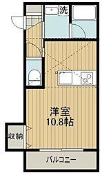 東武東上線 下赤塚駅 徒歩15分の賃貸アパート 3階1Kの間取り