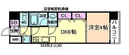大阪府大阪市中央区淡路町4丁目の賃貸マンションの間取り