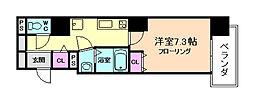 エトワール阿波座[9階]の間取り