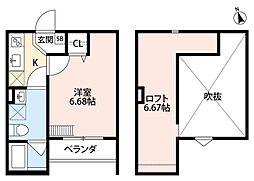 Grande Mare 堺東 グランドマーレサカイヒガシ 1階1Kの間取り