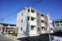 栃木県小山市東城南1の賃貸アパートの外観