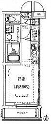 クラリッサ カワサキ 梶ヶ谷[4階]の間取り