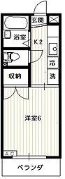リエス西国分寺[2階]の間取り
