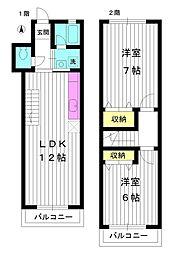 [テラスハウス] 東京都練馬区土支田3丁目 の賃貸【東京都 / 練馬区】の間取り