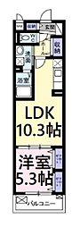 Kヴェスト 5階1LDKの間取り