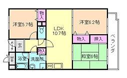 TOC21[6階]の間取り