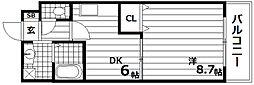 兵庫県神戸市長田区御屋敷通2丁目の賃貸マンションの間取り