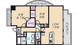メゾングランプレール[6階]の間取り