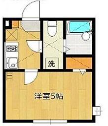 アザーレ・パッシオ生田壱番館 1階1Kの間取り