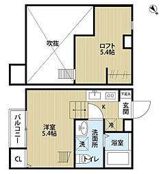 reo's稲毛01(レオズイナゲゼロイチ)[1階]の間取り