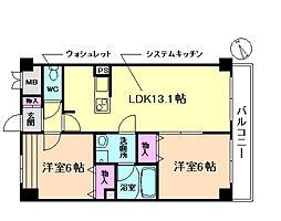 千船ローズマンション[5階]の間取り
