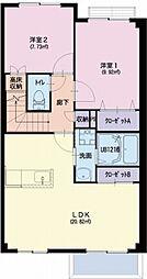 愛知県名古屋市守山区大字下志段味字風越の賃貸アパートの間取り