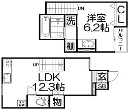 Casa Horizon korien 1階1LDKの間取り