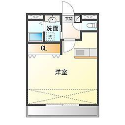 愛知県岡崎市城北町の賃貸マンションの間取り