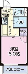 静岡県静岡市駿河区登呂4丁目の賃貸アパートの間取り