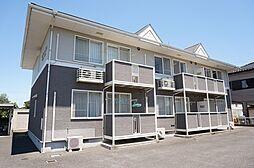 栃木県宇都宮市雀の宮4の賃貸アパートの外観