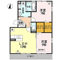 ヒルズ山神戸[3階]の間取り