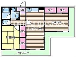 箕面ワールドハイツ[2階]の間取り