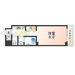 JR大阪環状線 桃谷駅 徒歩7分の賃貸マンション 6階1Kの間取り