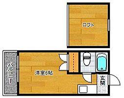 井尻ローズパレス[203号室]の間取り