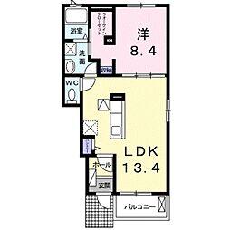 ラスパシオ B[1階]の間取り