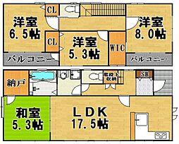 [一戸建] 福岡県福岡市東区三苫2丁目 の賃貸【/】の間取り