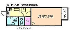 阪口ハイツ[1階]の間取り