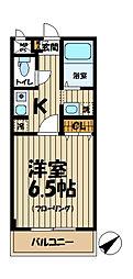 北鎌倉プレジール[3階]の間取り