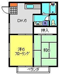 神奈川県横浜市南区堀ノ内町1丁目の賃貸アパートの間取り